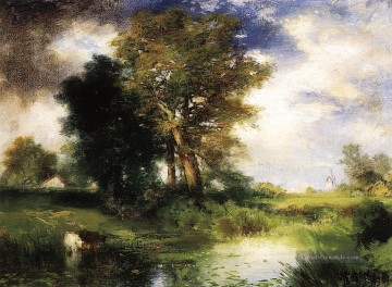 The Passing Sturm Landschaft Thomas Moran Fluss Ölgemälde