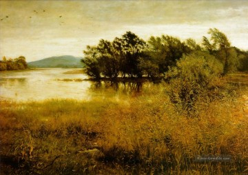 Hill Kunst - Chill Oktober Landschaft John Everett Millais Fluss