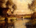 alte Mühle in der normandie Landschaft Louis Aston Knight Fluss