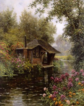 Ein beaumont le roger Landschaft Louis Aston Knight Fluss Ölgemälde