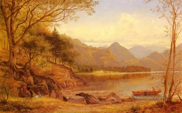 Derwentwater Landschaft Benjamin Williams Leader Bach Ölgemälde