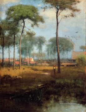 Early Morning Tarpon Springs Landschaft Tonalist George Inness Bach Ölgemälde