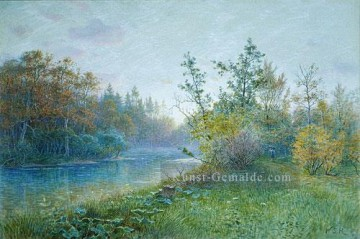 Mill Dam In Traunstein Szenerie William Stanley Haseltine Landschaft Fluss Ölgemälde