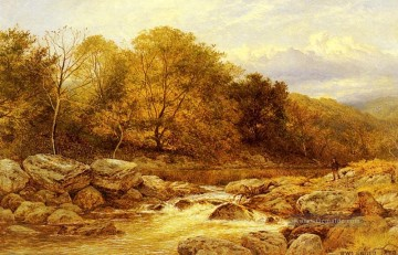Am Bach Llugwy North Wales Landschaft Benjamin Williams Leader Ölgemälde