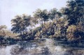 Pond Aquarelle Szenerie Thomas Girtin Landschaft Fluss
