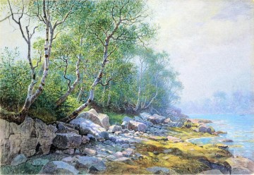 Maricopa Mount Desert Maine Szenerie William Stanley Haseltine Landschaft Fluss Ölgemälde
