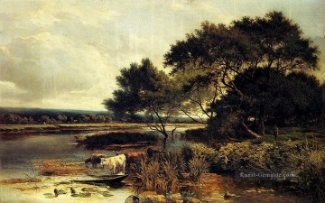 Streatly On Thames Landschaft Sidney Richard Percy Bach Ölgemälde