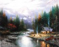 Das Ende einer Perfect Day II Thomas Kinkade Landschaft Fluss