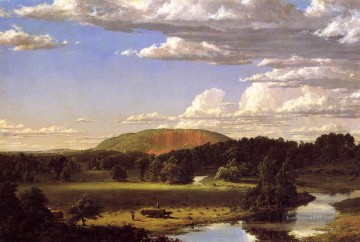 Landschaften Maler - West Rock New Haven Landschaft Hudson Fluss Frederic Edwin Kirche Landschaften