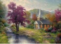 Stroms of Living Water Thomas Kinkade Landschaften