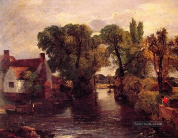 The Mill Strom Romantische Landschaft John Constable Ölgemälde
