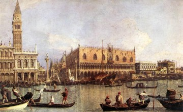 Piazza Kunst - Palazzo Ducale und der Piazza di San Marco Canaletto Venedig