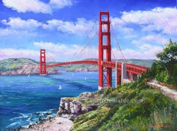 Golden Gate Bridge in San Francisco amerikanischer Stadt Ölgemälde