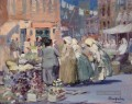 Spring Morning Houston und Division Streets New York George luks Stadtbild Szenen Stadt