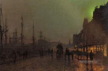 Andere Stadtlandschaft Werke - Gourock Near The Clyde Shipping Docks city scenes John Atkinson Grimshaw cityscapes