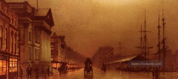 Andere Stadtlandschaft Werke - Liverpool Customs House city scenes John Atkinson Grimshaw cityscapes