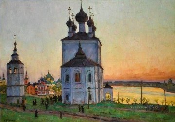 the annunciation 1785 Ölbilder verkaufen - THE ANCIENT TOWN OF UGLICH Konstantin Yuon Stadtbild Stadtszenen