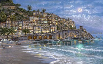 Andere Stadtlandschaft Werke - Starry Night in Amalfi cityscapes