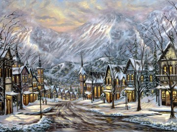 Andere Stadtlandschaft Werke - Winter Austria Robert Final cityscapes