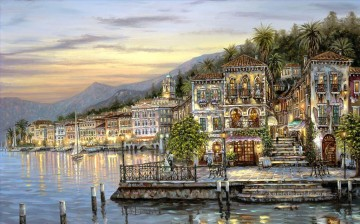 Andere Stadtlandschaft Werke - Bellagio Lake Como Robert F cityscapes