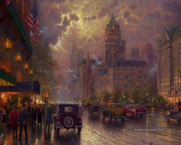 New Yorker 5th Avenue Thomas Kinkade Stadtlandschaften Ölgemälde