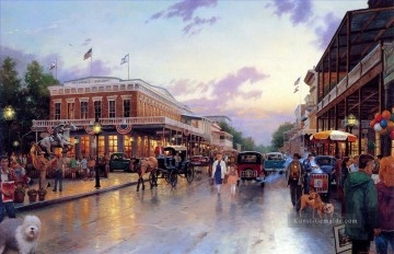 Andere Stadtlandschaft Werke - Main Street Celebration Thomas Kinkade cityscapes