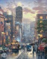 San Francisco Powell Street Thomas Kinkade cityscapes