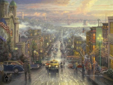 Andere Stadtlandschaft Werke - The Heart of San Francisco Thomas Kinkade cityscapes