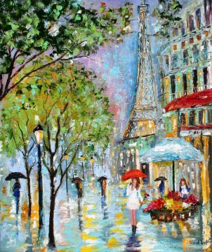 Paris Werke - umbrellas under effel tower