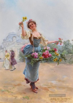 Paris Werke - Louis Marie Schryver The Flower Girl 3 Parisienne