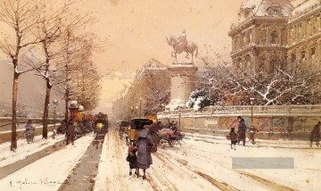 Paris Werke - Paris In Winter Pariser Eugene Galien Laloue