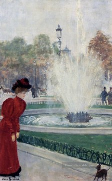 Paris Werke - Parisienne Au Rond Point Des Champs Elysees Paris Szenen Jean Beraud