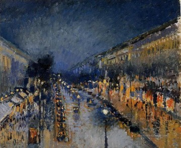Paris Werke - Pissarro the boulevard montmartre at night Paris