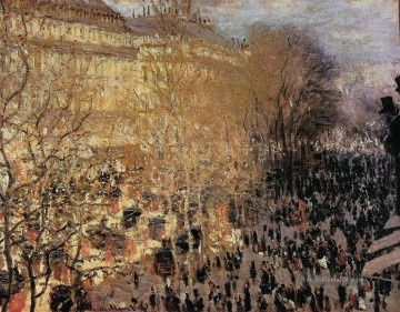 Paris Werke - The Boulevard des Capuchine Claude Monet Paris