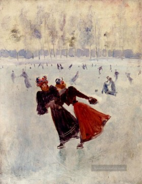 Paris Werke - Frauen Skating Paris Szenen Jean Beraud