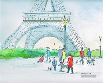 Paris Werke - Mark Higden Watercolor 2 Paris
