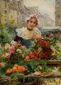 Schyver louis marie de the flower seller 1898 Parisienne