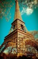 eiffel tower retro by kath