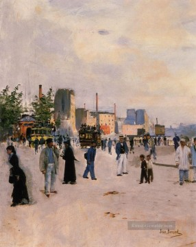 Paris Werke - A Morning Stroll Paris scenes Jean Beraud