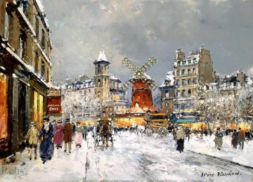 Moulin Galerie - AB Moulin rouge ein pigalle sous la neige Paris