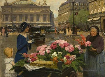 Paris Werke - Louis Marie Schryver Paris Flower Vendor