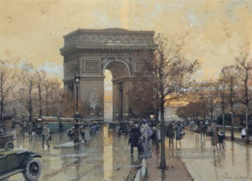 Paris Werke - The Arc de Triomphe Paris Eugene Galien Laloue