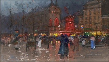 Moulin Galerie - Das Moulin Rouge Abend Eugene Galien Pariser