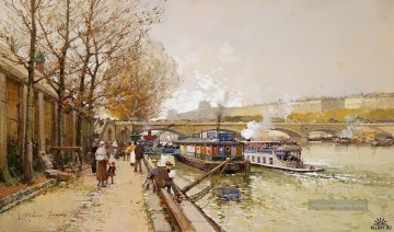 Paris Werke - along the seine river Eugene Galien Paris