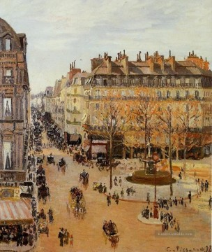 Paris Werke - rue saint honore sun effect afternoon 1898 Camille Pissarro Pariser