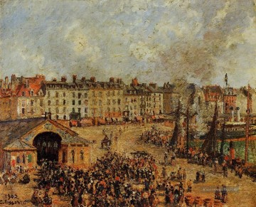 Paris Werke - the fishmarket dieppe 2 1902 Camille Pissarro Pariser