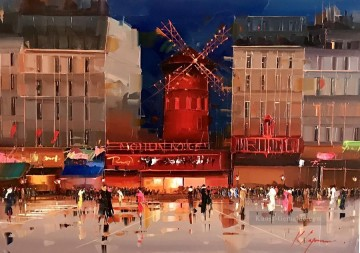 Moulin Galerie - Moulin Rouge bei Nacht KG Paris
