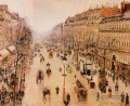 boulevard montmartre morning grey weather 1897 Camille Pissarro Pariser