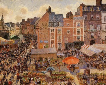 Paris Werke - the fair dieppe sunny afternoon 1901 Camille Pissarro Pariser