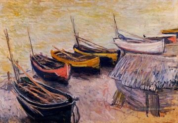 monet seerosen Ölbilder verkaufen - Boats on the Strand Claude Monet